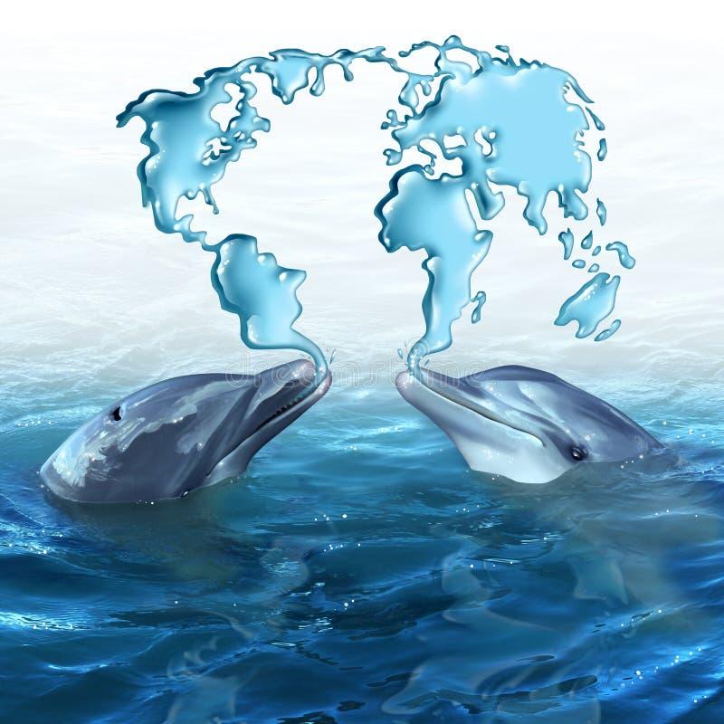 Morska ekologia ilustracja wektor