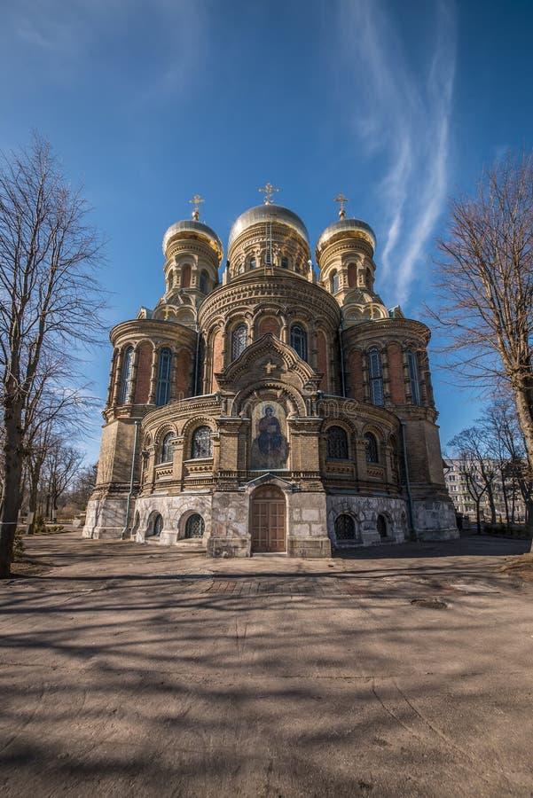 Morska katedra nad jasnym niebieskim niebem zdjęcia royalty free