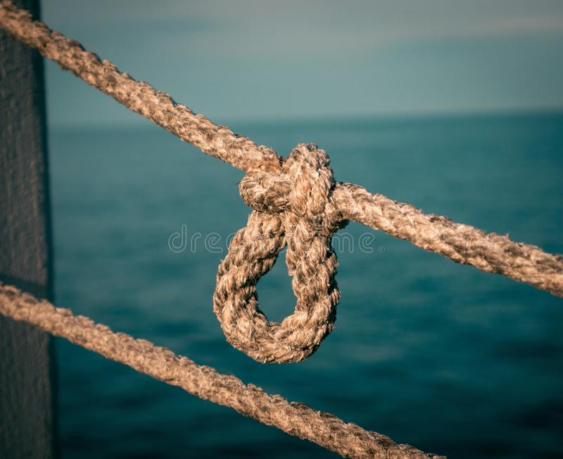 Morska linowa kępka fotografia royalty free