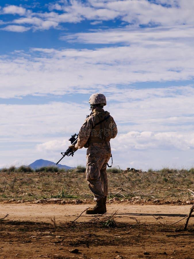 Morski żołnierz II zdjęcie stock
