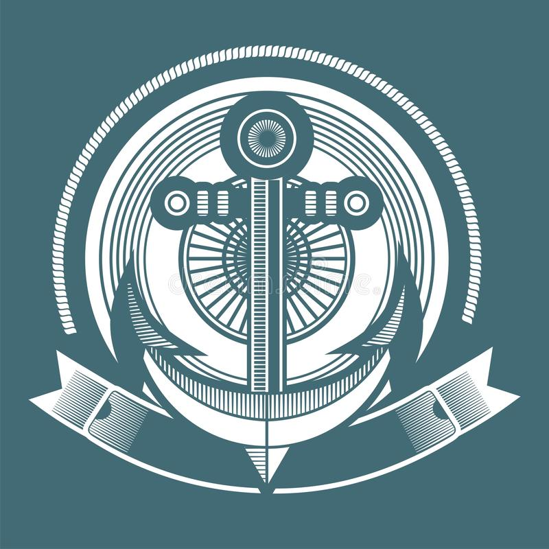 Morski emblemat royalty ilustracja