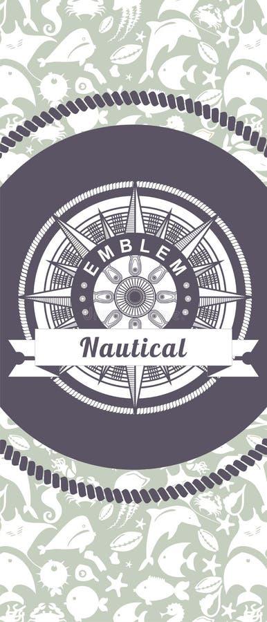 Morski emblemat ilustracji