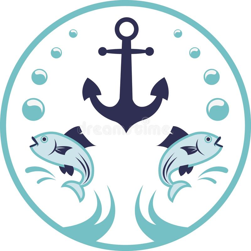 Morski logo ilustracja wektor