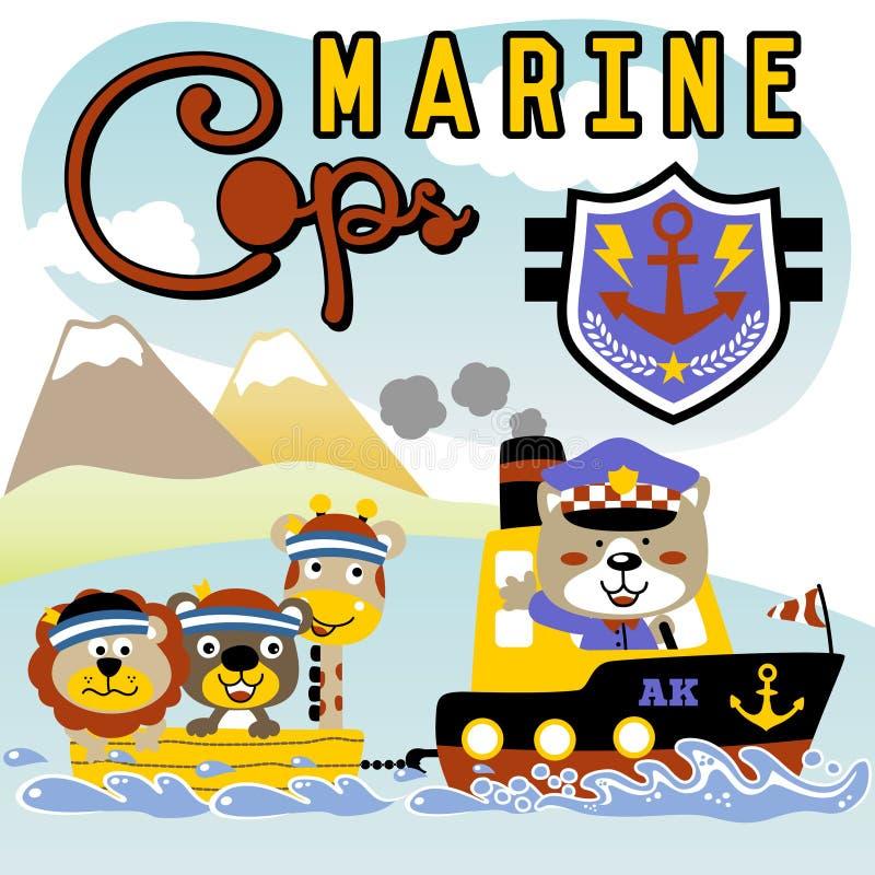 Morski policjant royalty ilustracja