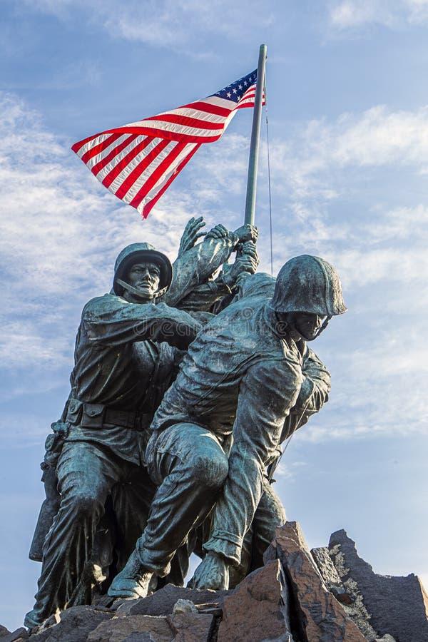 Morski pomnik w Arlington, VA zdjęcia royalty free