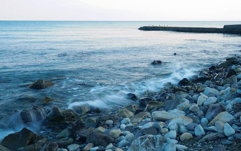 Morski surf wieczorny obrazy stock