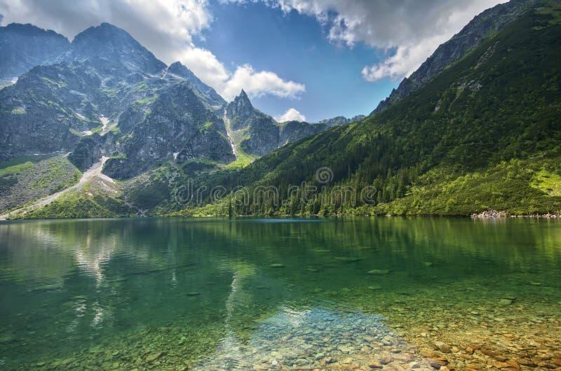 Morskie Oko湖 图库摄影