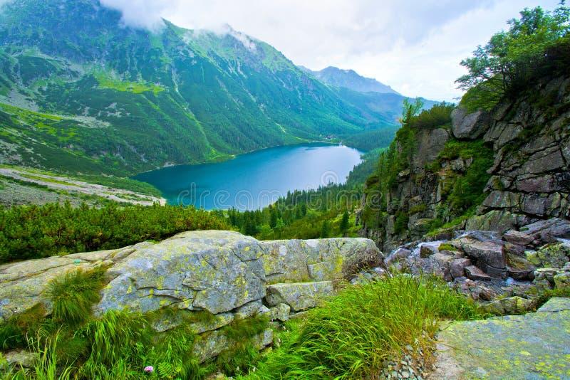 Morskie Oko в Tatry стоковое фото