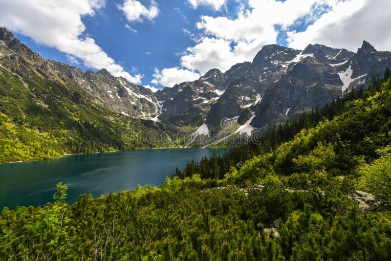 Morskie-oko See, Tatra-Berge, Zakopane, Polen stockfotos