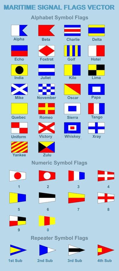 Morskie Sygnałowe flaga royalty ilustracja