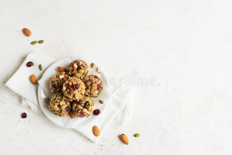 Morsures de granola d'?nergie photographie stock