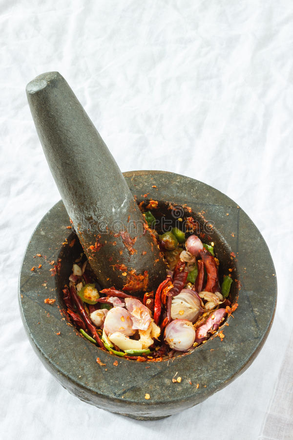 Download Mortar stock photo. Image of plant, herbal, pepper, close - 25558614