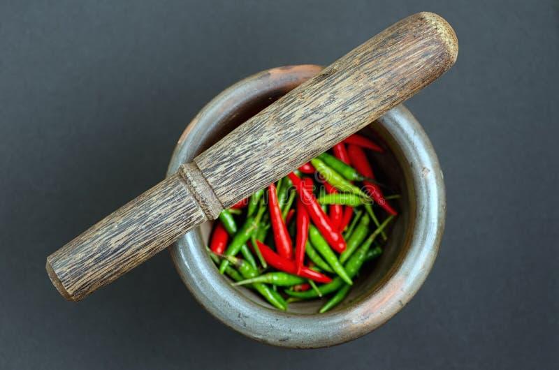 Download Mortar stock image. Image of chili, crush, herbal, mortar - 26717217