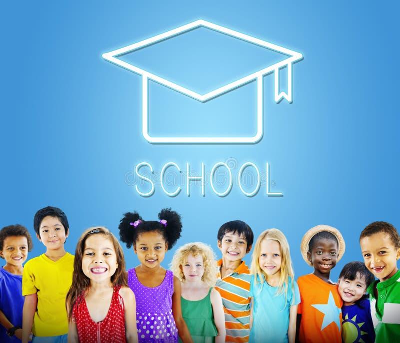 Mortar Board Education Success Icon Concept stock photos