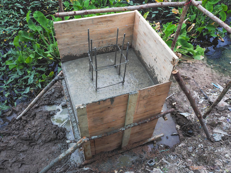 The mortar casting base building. stock image