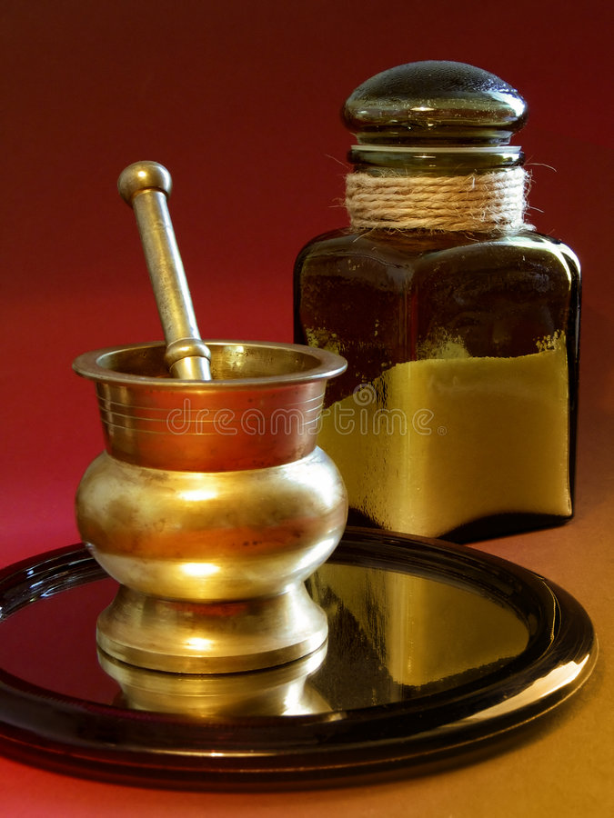 Download Mortar on a mirror stock photo. Image of bowl, pestle, pills - 35730