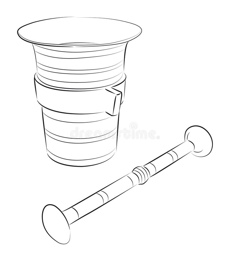 Download Mortar with pestle stock vector. Illustration of pestle - 20628334