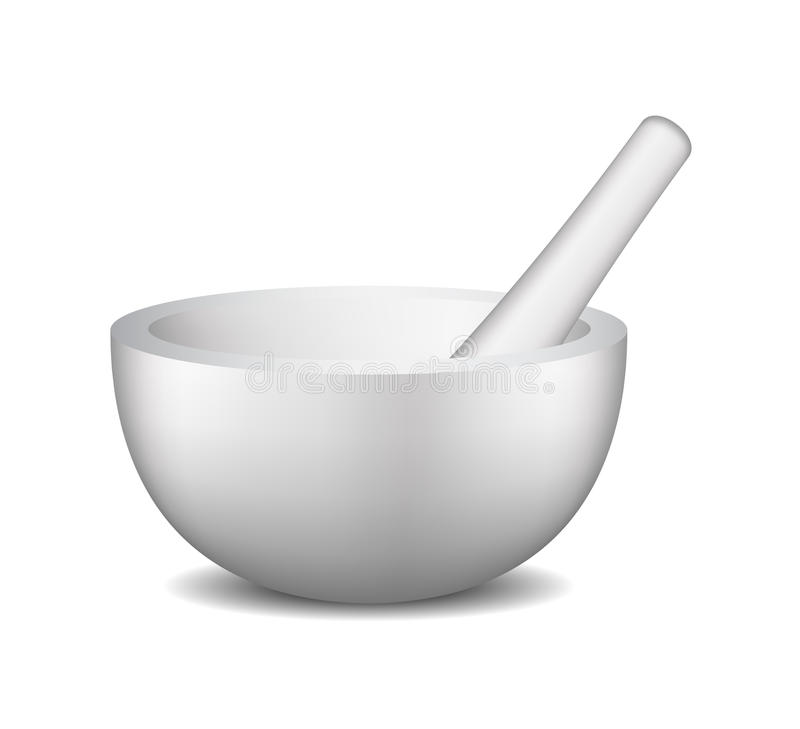 Mortar and pestle royalty free illustration