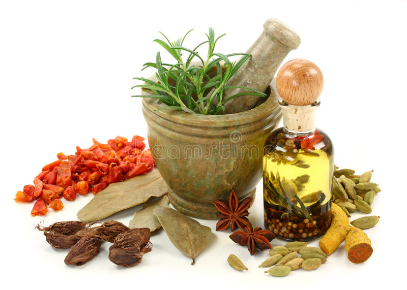 Download Mortar with spices stock photo. Image of pepper, cardamom - 7644806