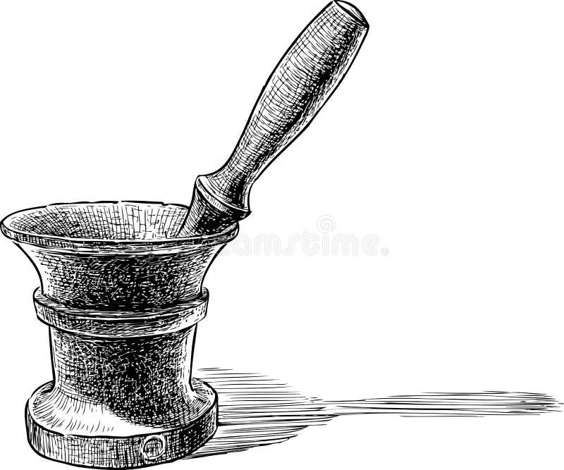 Mortar stock illustration