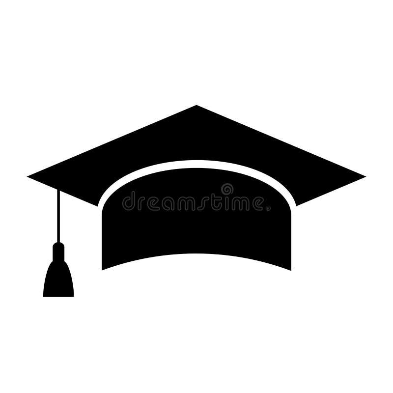 Mortarboard academic cap, education icon royalty free illustration