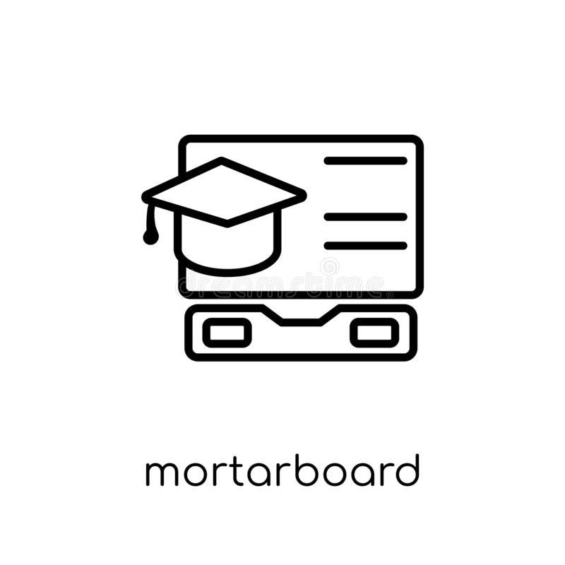 Mortarboard icon from collection. royalty free illustration