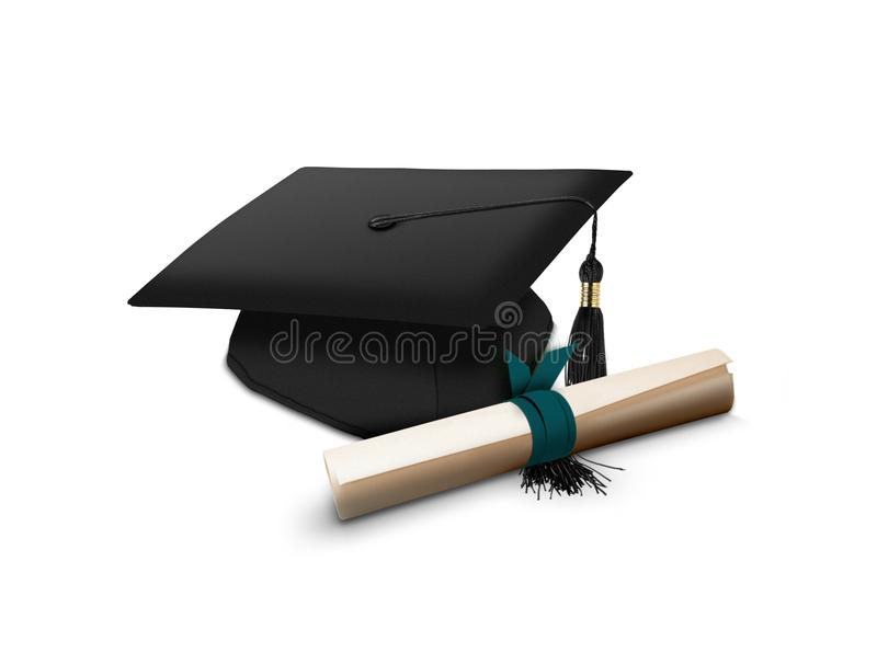 Download Mortarboard and scroll stock illustration. Image of commencement - 28073031