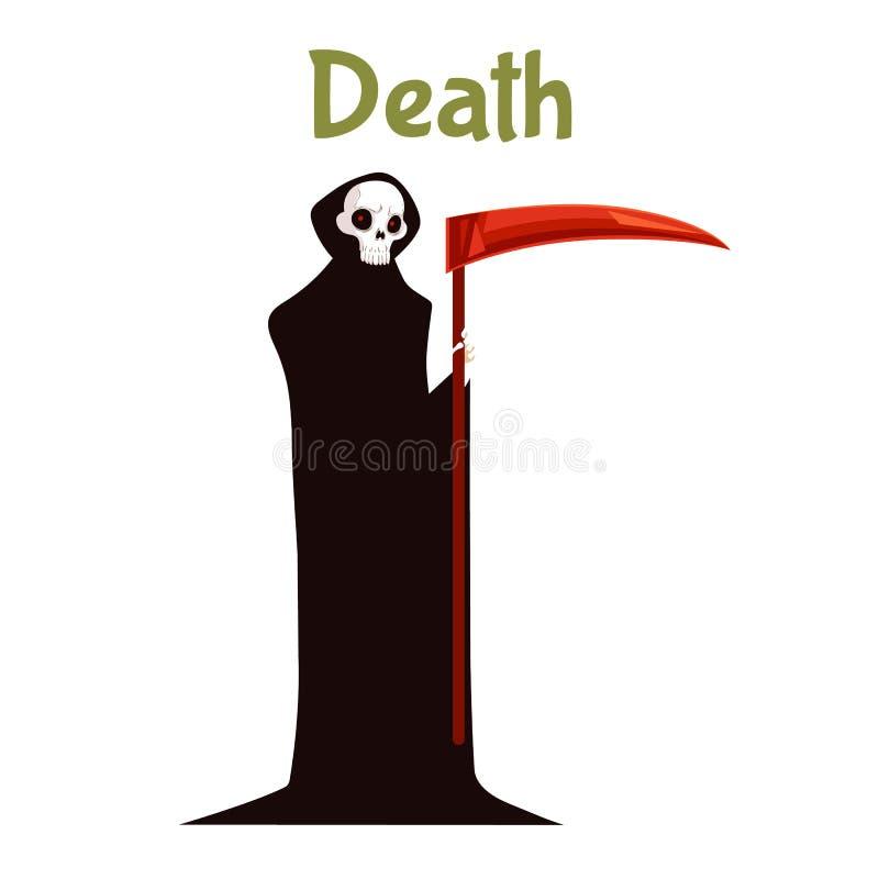 Morte com o traje da foice para Dia das Bruxas ilustração stock