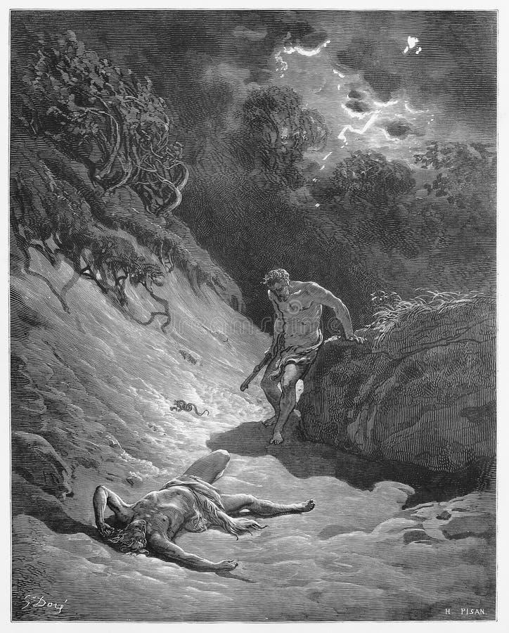 A morte de Abel ilustração stock