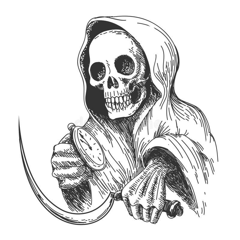 Morte de espera ilustração do vetor