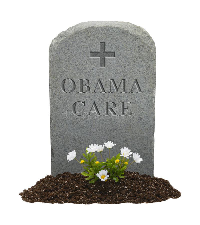Morte de Obamacare imagens de stock royalty free