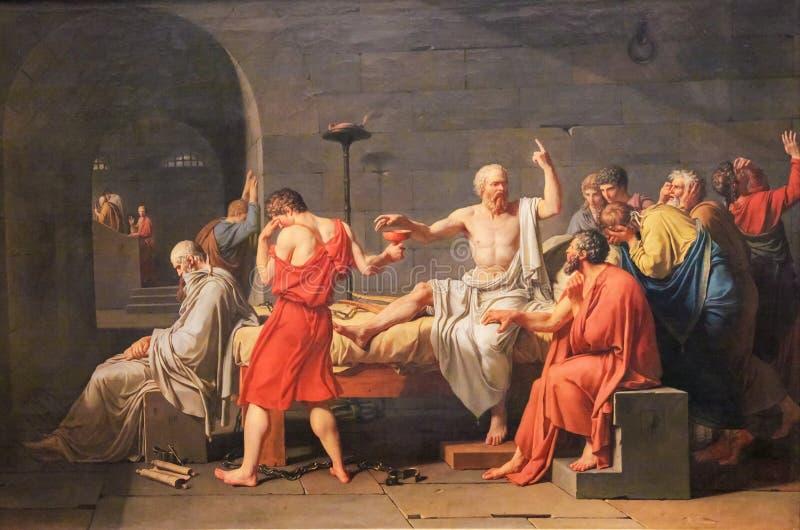 A morte de Socrates imagem de stock royalty free