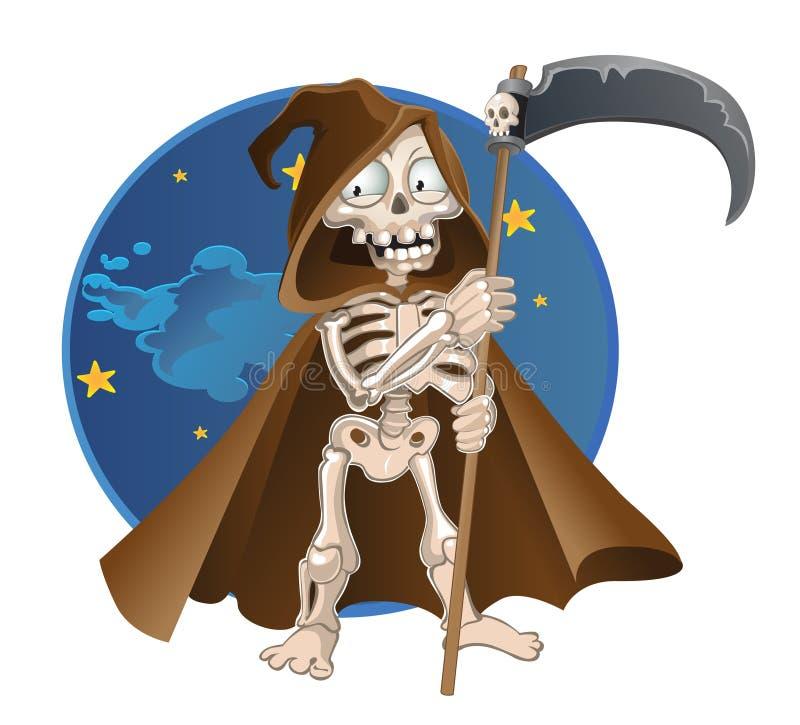 Morte del fumetto di divertimento su una priorità bassa del cielo notturno royalty illustrazione gratis