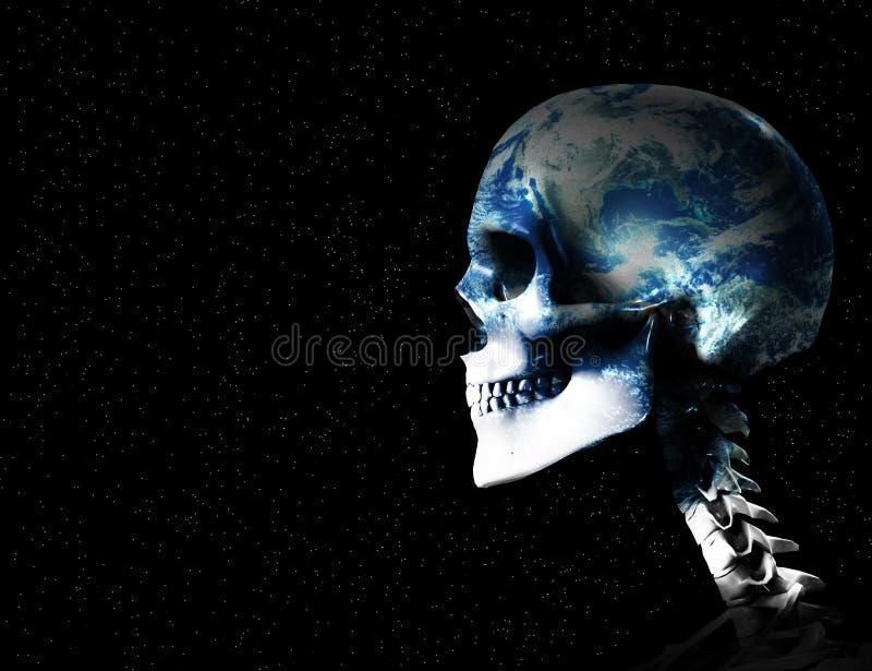 Morte do mundo ilustração stock