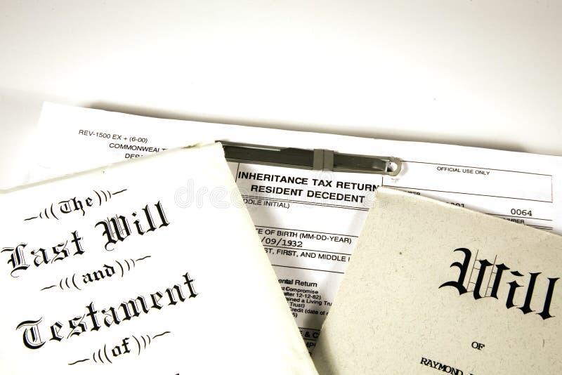 Morte e impostos imagem de stock royalty free