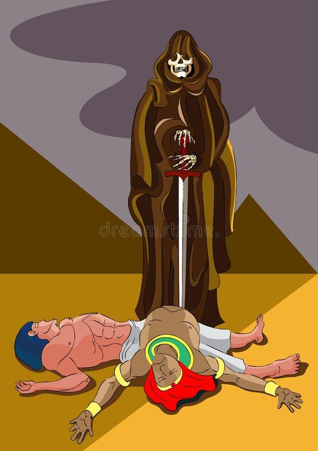 Morte nell'Egitto illustrazione di stock