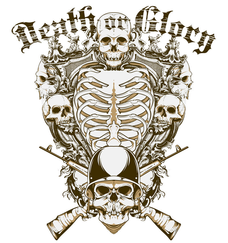 Morte ou glória ilustração do vetor