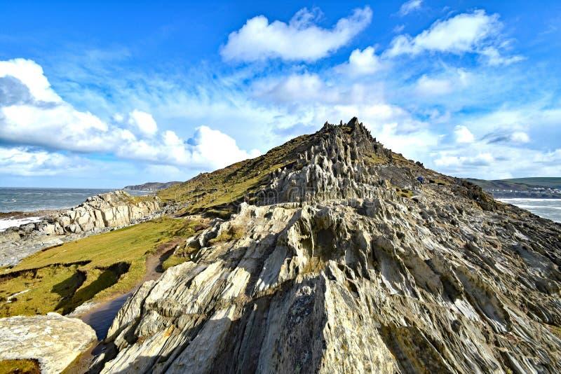 Morte punkt przylądkowy, Północny Devon, Anglia obrazy royalty free