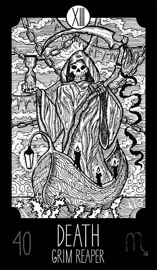 morte Reaper desagradável ilustração royalty free