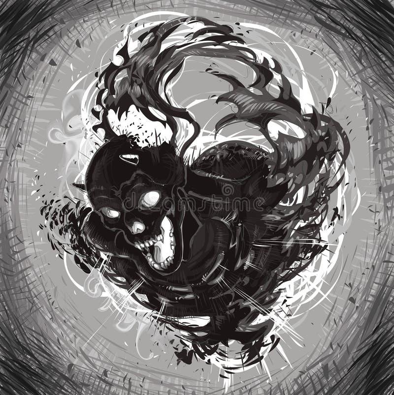 Morte scura illustrazione di stock
