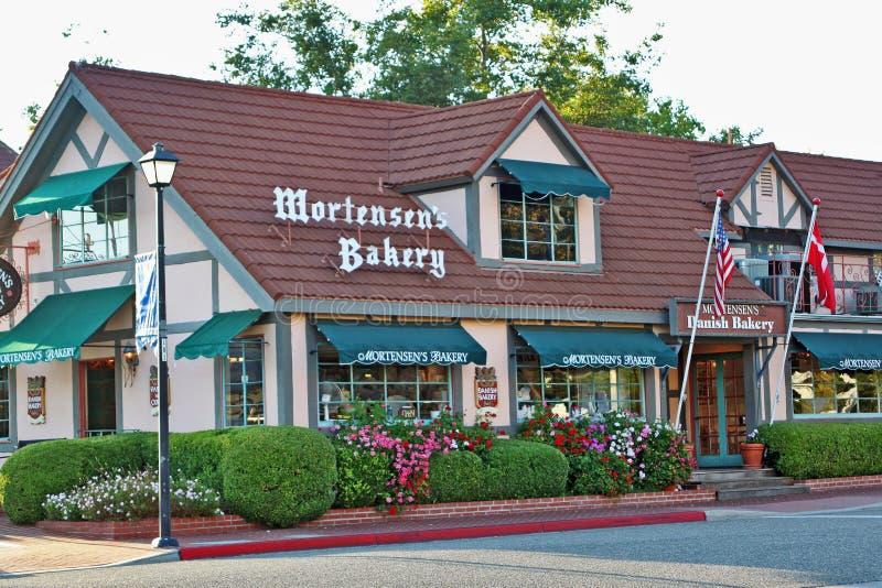 Mortensens Danish Bakery in Solvang, California stock photo