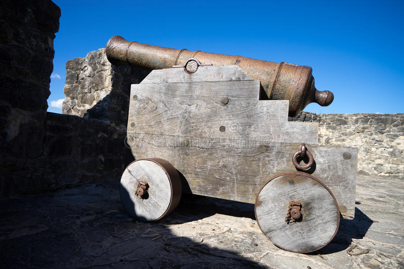 Mortero colonial del vintage en Tejas fotos de archivo