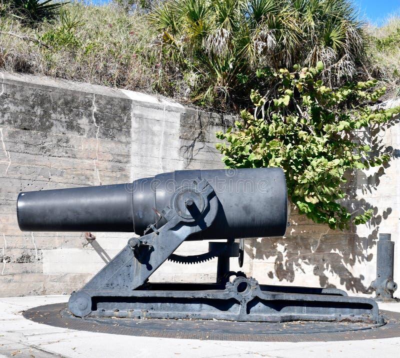 mortero de la costa 12-Inch: Modelo 1890-M1 imagen de archivo