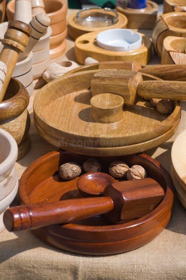 Morteros de madera imagen de archivo libre de regalías