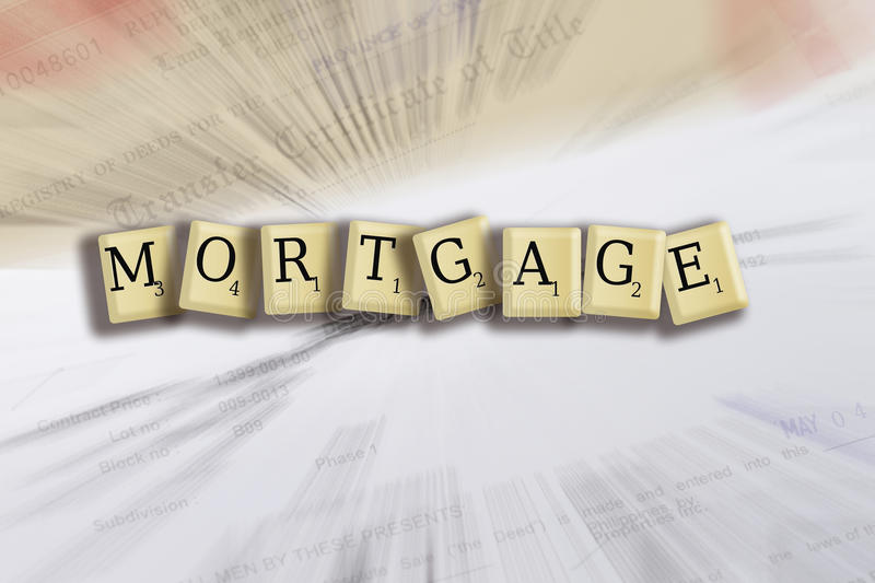Mortgage. Some forms for a deed to conceptualize on the financial investment stock images