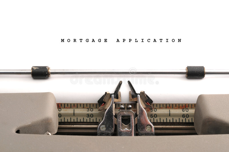 Download Mortgage Application Typed On Old Typewriter Royalty Free Stock Image - Image: 6932586