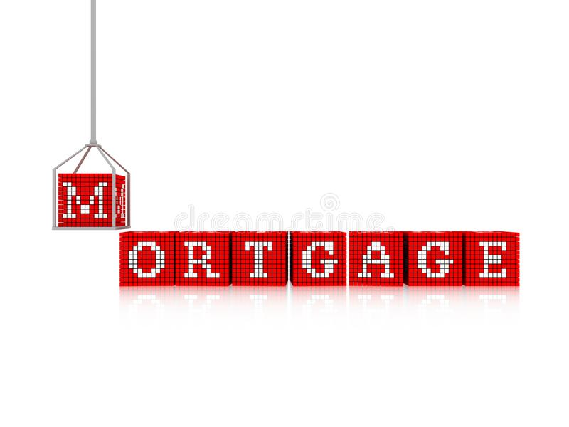 Mortgage concept royalty free illustration