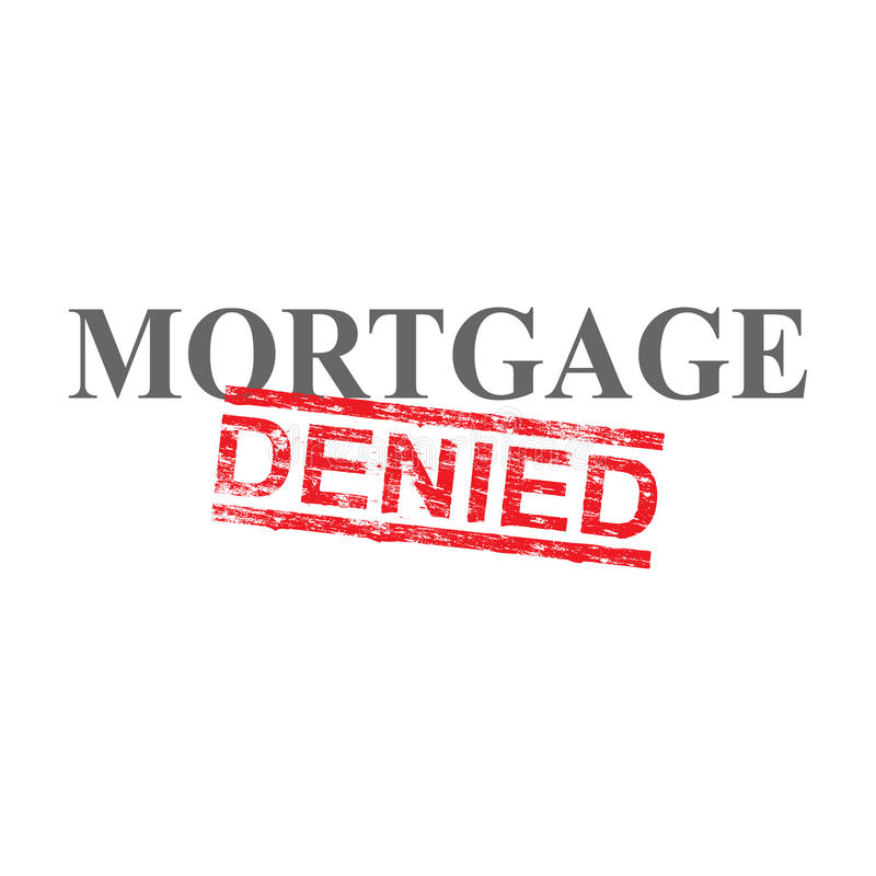 Mortgage Denied Word Stamp stock illustration