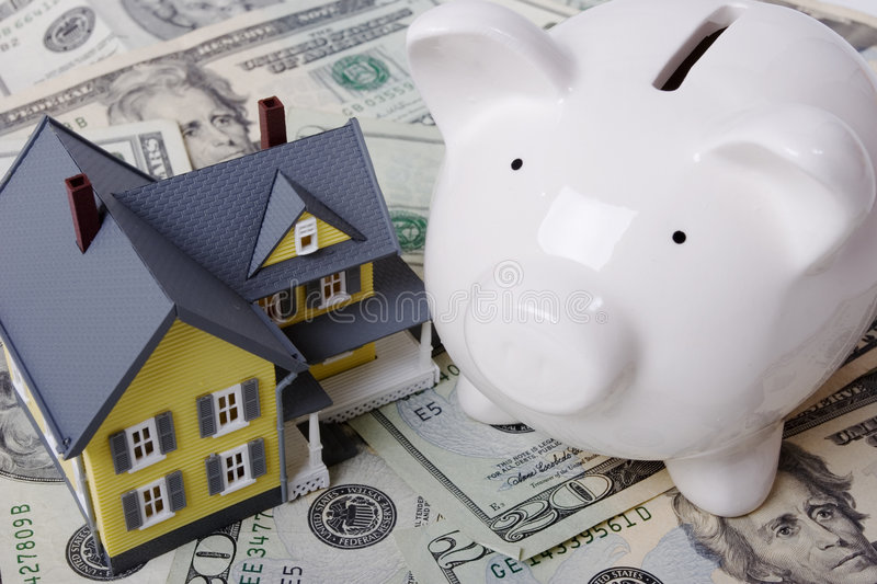 Mortgage and down payment royalty free stock images