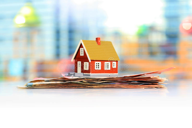 Mortgage house concept stock photography